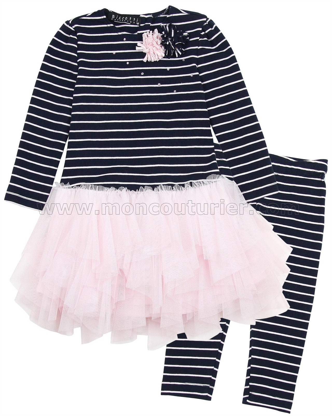Clothing, Shoes & Accessories Baby & Toddler Clothing Biscotti Collection Pink 2 Piece Set Covered In Ruffles Size 2