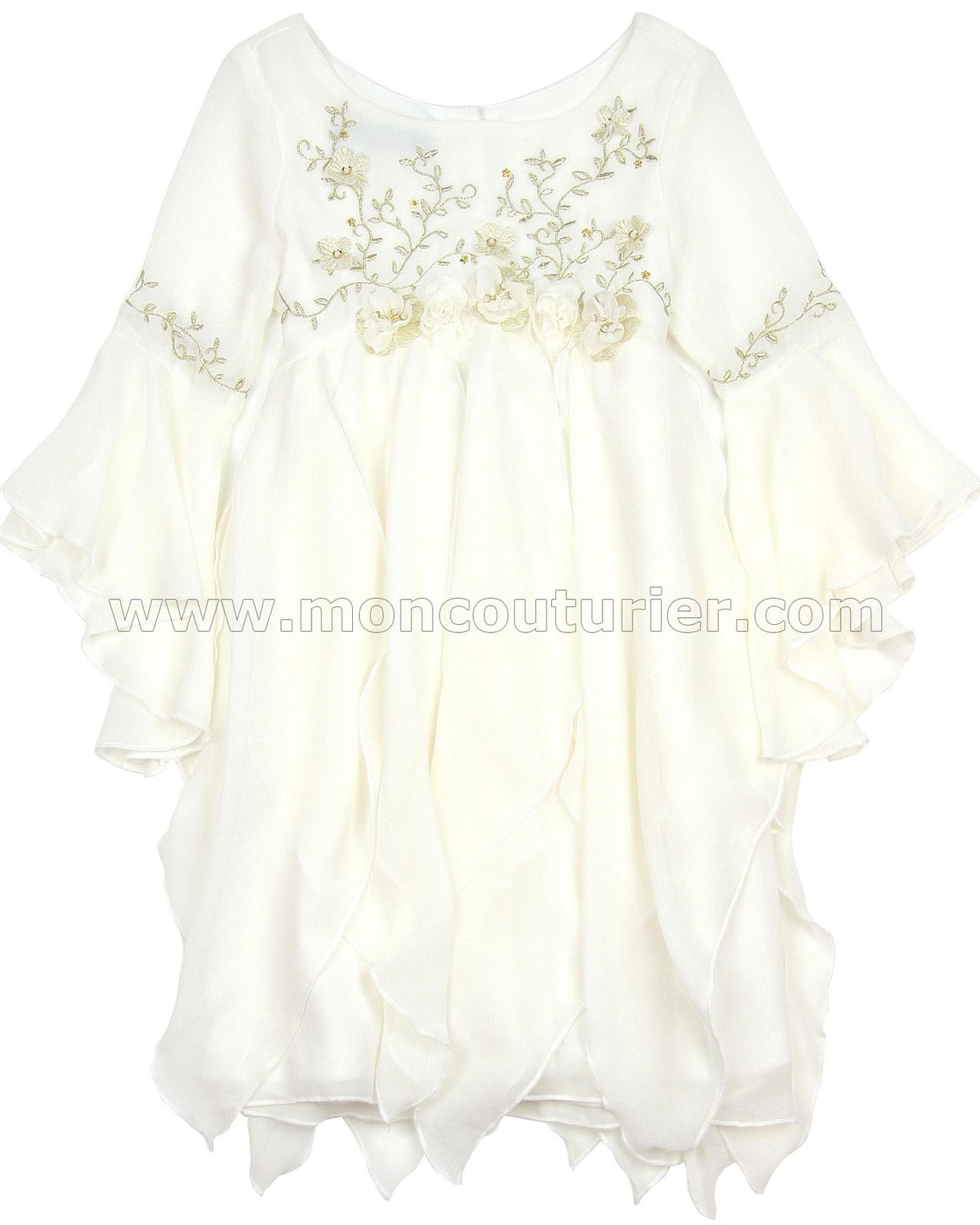 7426c9eb696 Biscotti Modern Maiden Chiffon Dress Ivory