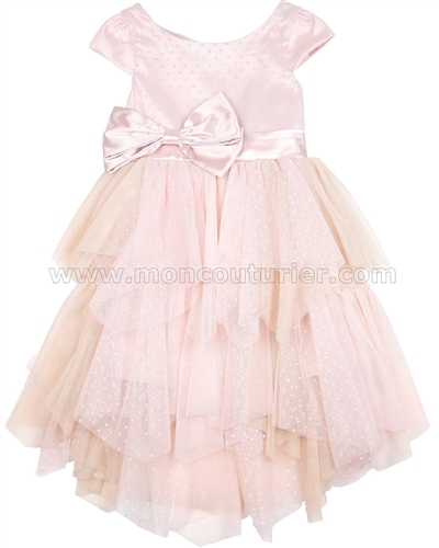 Biscotti Princess Party Dress with Satin Bow