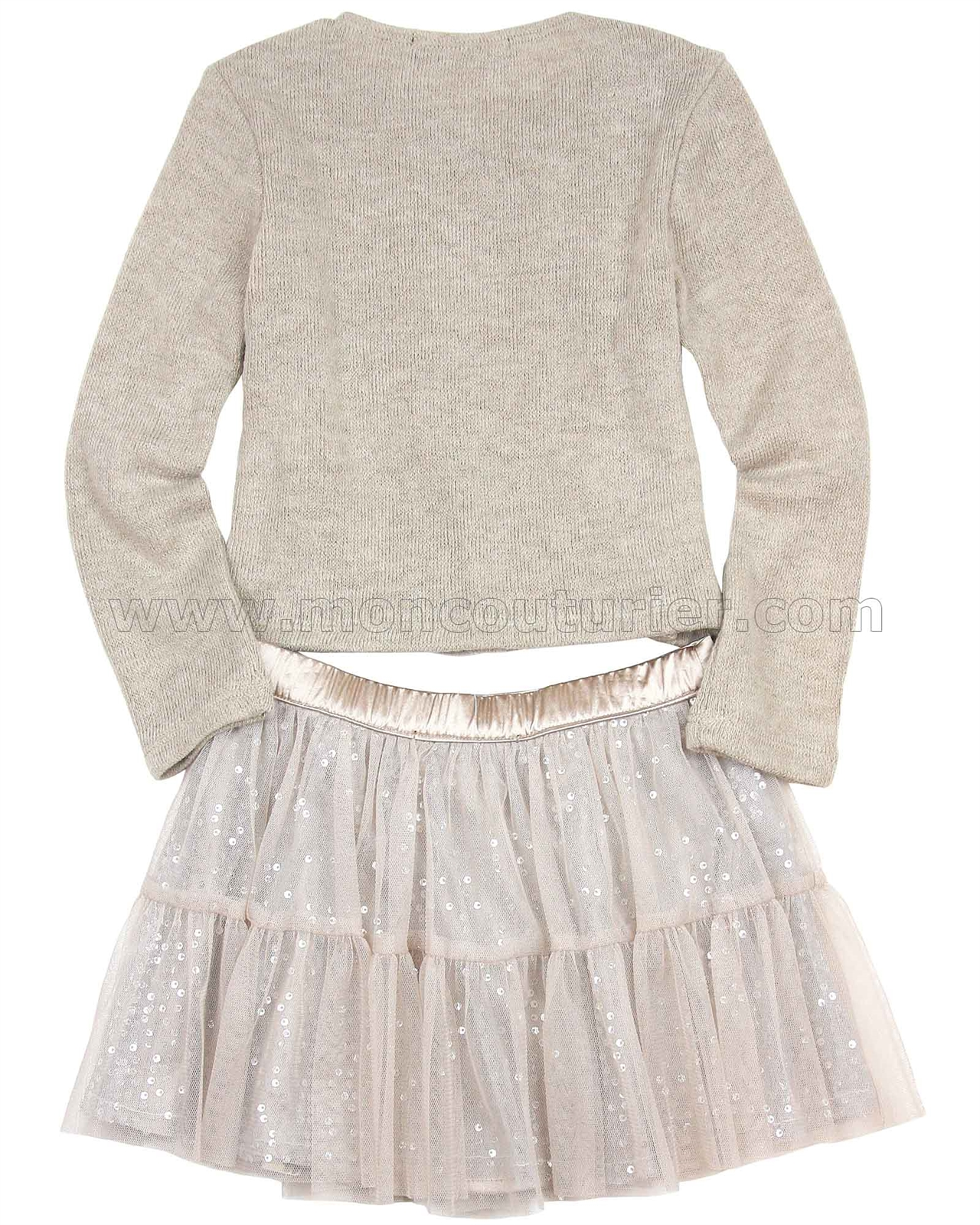 1f7a23612 Biscotti Graceful Glam Sweater and Skirt Set Taupe | Biscotti and ...