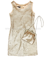 Biscotti Grand Entrance Party Dress and Purse Set Gold