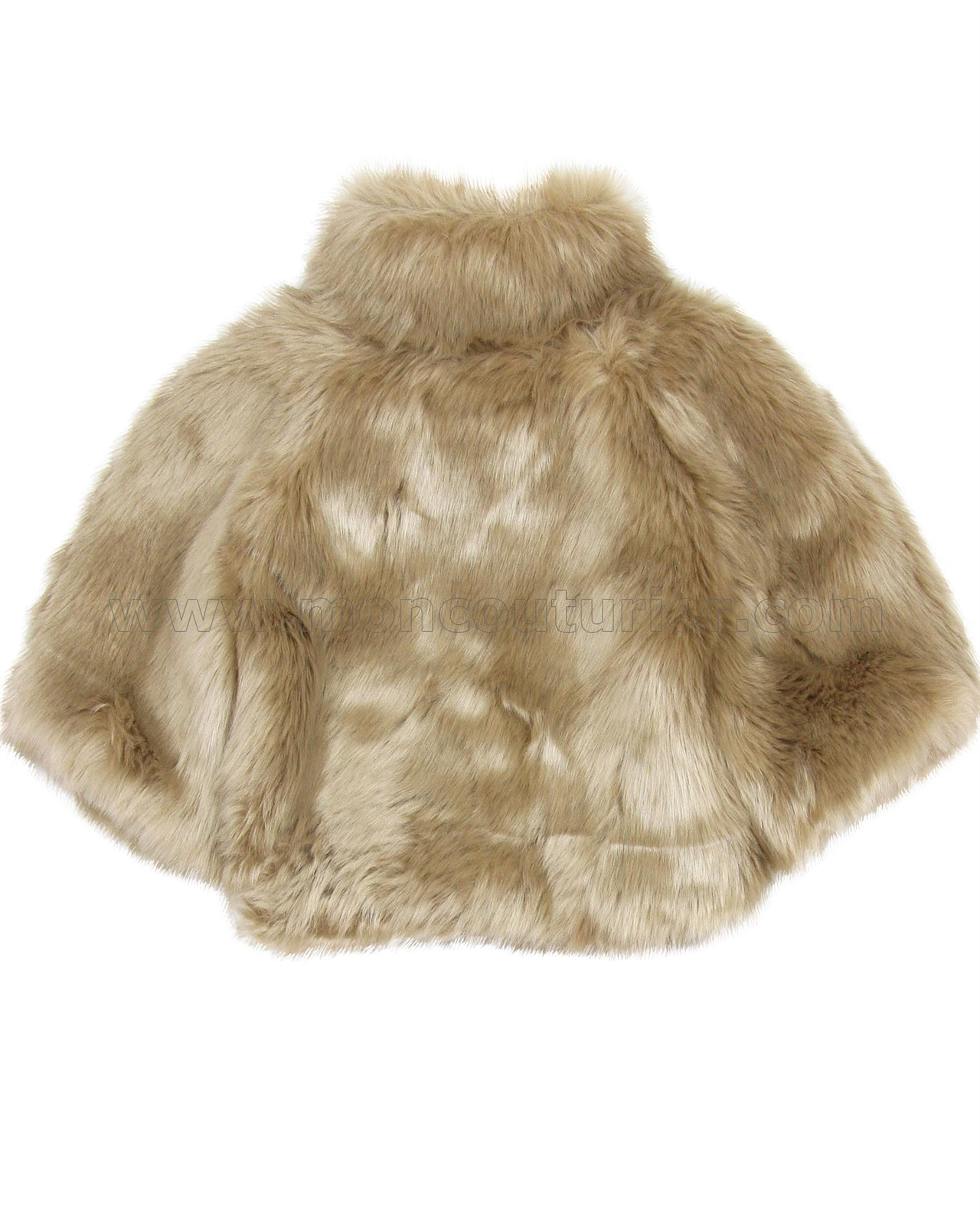Kate Mack Biscotti Girls Grand Entrance Faux Fur Jacket Sizes 4-16