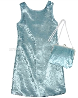 Biscotti Grand Entrance Party Dress and Purse Set Blue