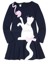 Kate Mack Pretty Kitty Dress with Cat