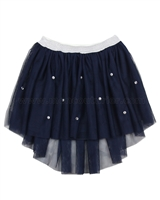 Kate Mack Pretty Kitty Tulle Skirt Navy