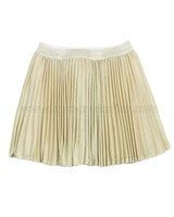 Kate Mack Spun Gold Plisse Skirt
