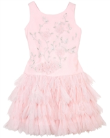 Biscotti Girls Drop Waist Dress Young Romance Pink