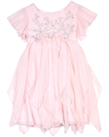 Biscotti Girls Dress with Flutter Sleeves Young Romance