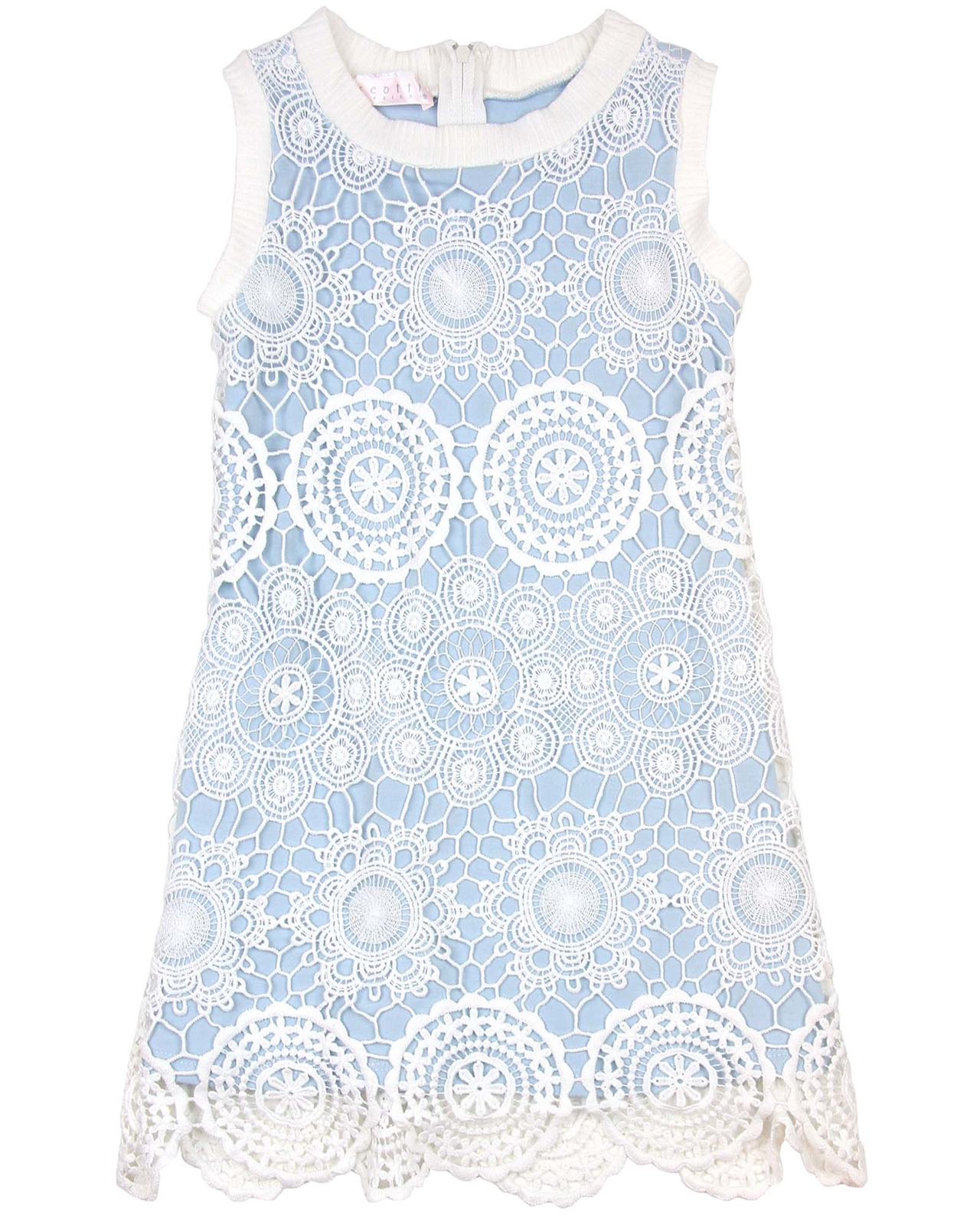 db008c655 Biscotti Girls Shift Dress Crazy for Crochet Blue