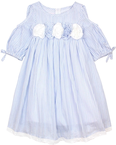 Biscotti Girls Off-Shoulder Dress Summer Stripes