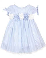 Biscotti Girls Dress with Puff Sleeves