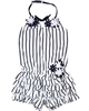 Kate Mack Girls Striped Romper Daisies Crew