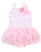 Kate Mack Little Girls' Skirted Swimsuit Pompom Party