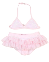Kate Mack Girls' Skirted Bikini Pompom Party