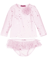 Kate Mack Girls' Rush Guard and Bottom Fairy Dance Pink