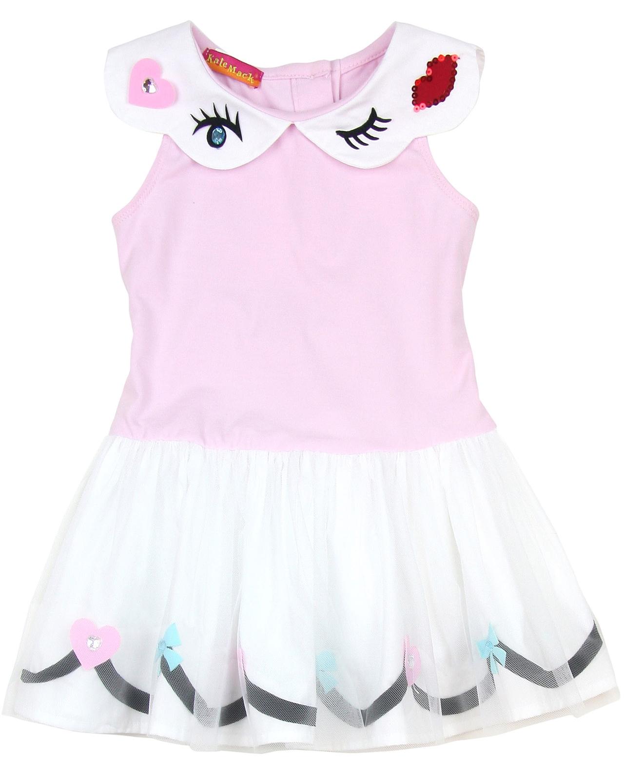 98cec53b0 Kate Mack Girls' Drop Waist Dress Oodles of Doodles Pink | Biscotti ...