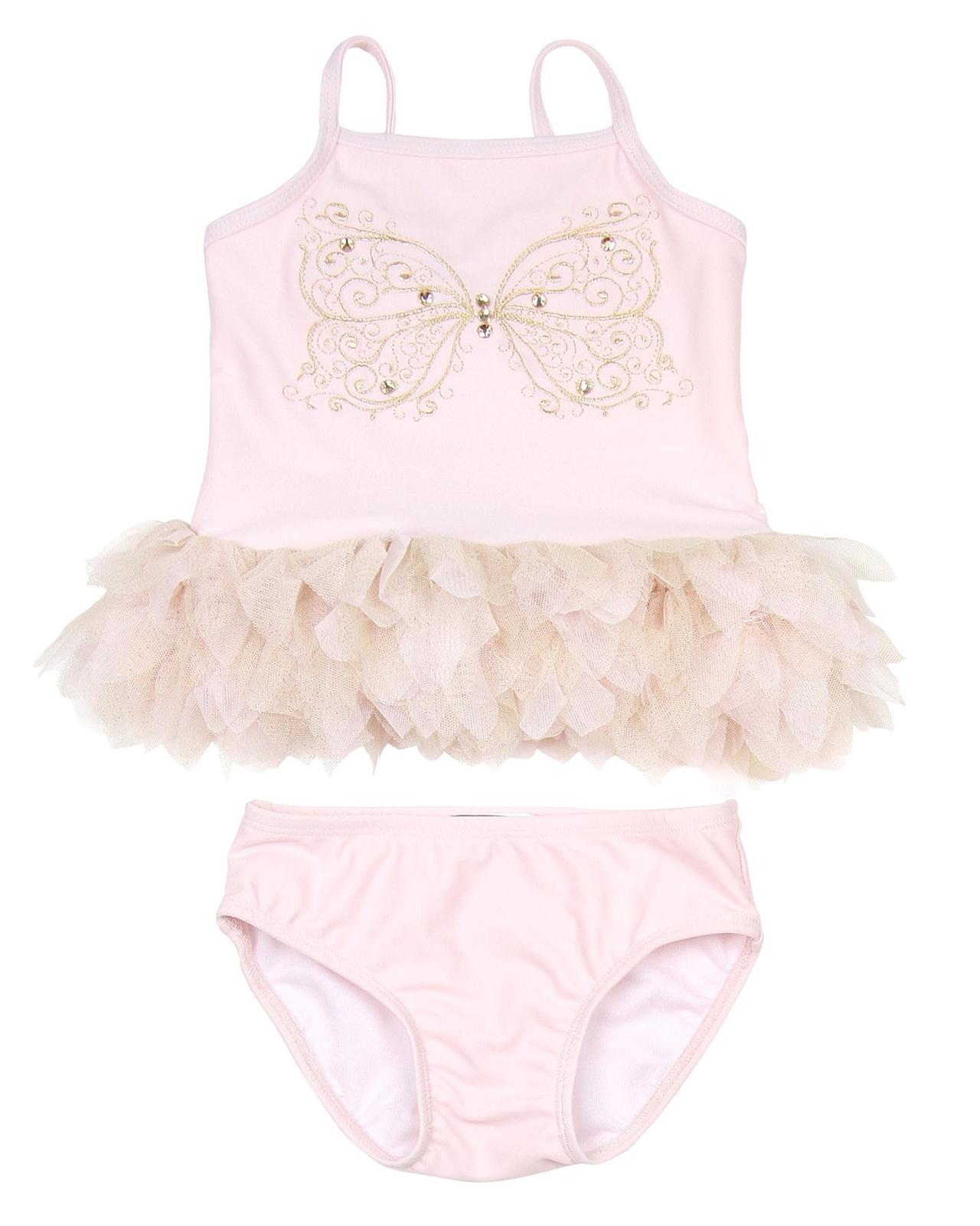 Sizes 4-10 Kate Mack Girls Princess Party Bikini with Frills