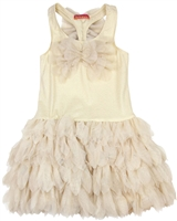 Kate Mack Girls' Dress with ButterflyGood as Gold