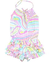 Kate Mack Girls' Romper True Colours