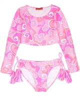 Kate Mack Girls' Rash Guard and Bottom Maui Mod
