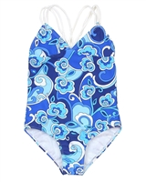 Kate Mack Girls' Swim Tank Ball Blues