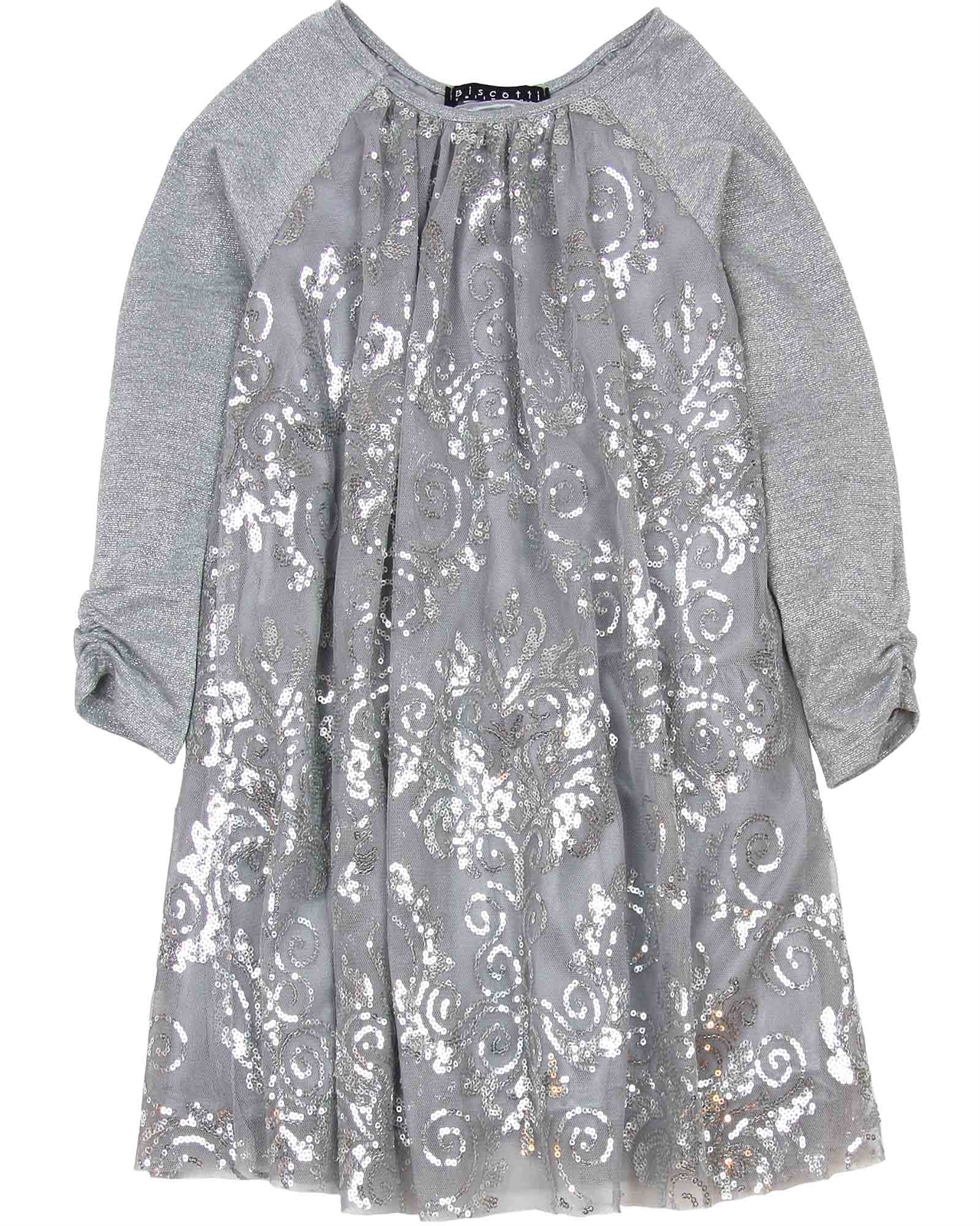 ba9339ae4 Biscotti Starry Night Dress with Sequins in Gray | Biscotti and Kate ...