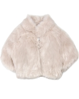 Biscotti Modern Fake Fur Shrug in Champagne