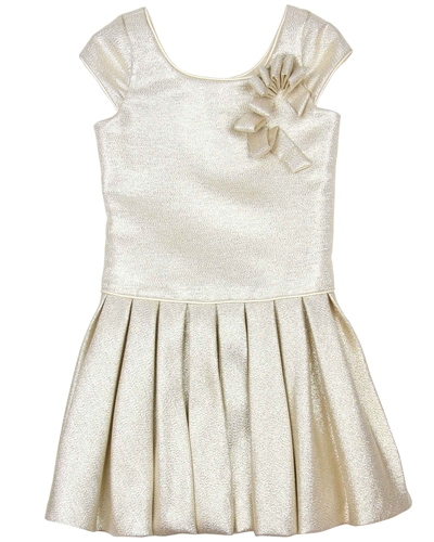 Biscotti Royal Princess Pleated dress in Gold
