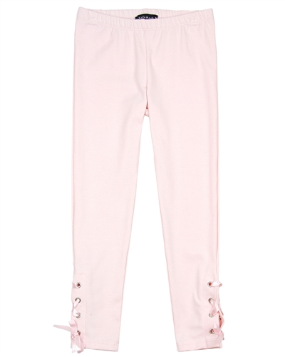Kate Mack First Position Leggings with Laces in Pink
