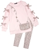 Kate Mack Animal Magic Tunic and Leggings Set in Pink
