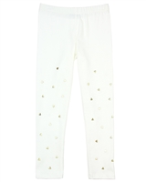 Kate Mack Melting Heart Leggings with Hearts in White