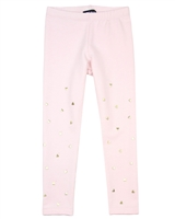 Kate Mack Melting Heart Leggings with Hearts in Pink