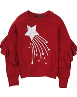 Kate Mack Holiday Magic Sweatshirt in Red