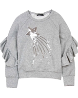 Kate Mack Holiday Magic Sweatshirt in Gray