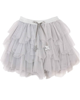 Kate Mack Holiday Magic Tiered Tulle Skirt in Gray