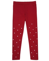 Kate Mack Holiday Magic Leggings in Red