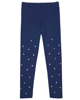 Kate Mack Holiday Magic Leggings in Navy