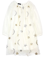 Kate Mack Moon and Stars Netting Dress in Ivory