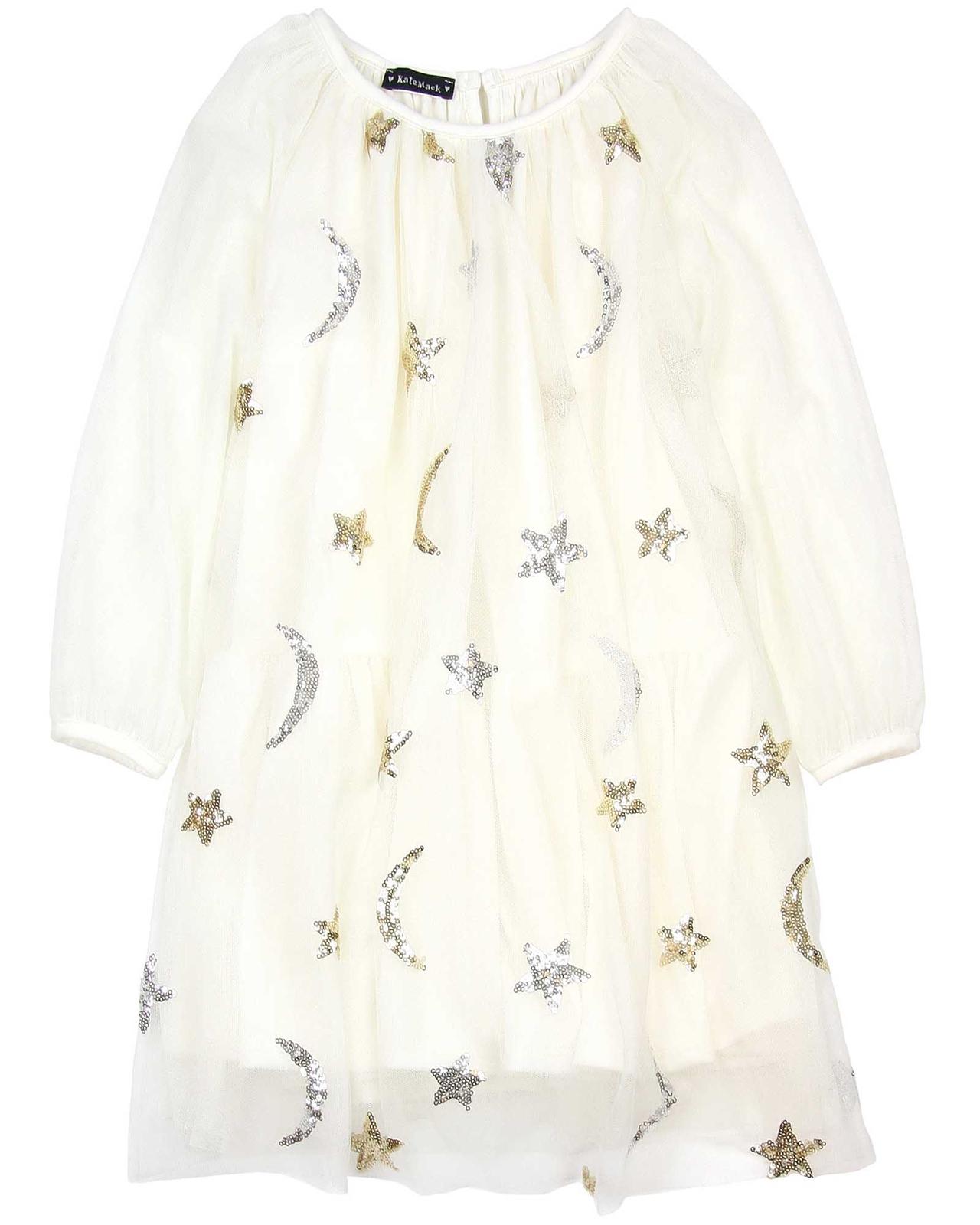 94b82344991 Kate Mack Moon and Stars Netting Dress in Ivory