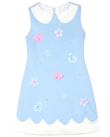 Biscotti Girls Garden Party Peter-pan Collar Dress in Blue