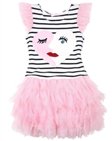 Biscotti Girls Face Time Dress with Frilled Bottom