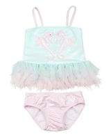 Kate Mack Girls Underwater Magic Tankini with Tulle Frills