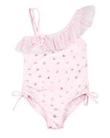 Kate Mack Girls Princess Party One-shoulder Swimsuit