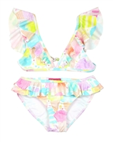 Kate Mack Girls Ice Cream Social Bikini with Flounces