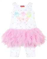 Kate Mack Girls Ice Cream Social Tunic and Leggings Set