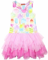 Kate Mack Girls Ice Cream Social Dress with Tulle Bottom
