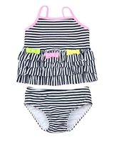 Kate Mack Girls Bathing Beauty Striped Tankini