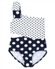 Kate Mack Girls Bathing Beauty One-Shoulder Swimsuit