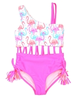 Kate Mack Girls Paradise Island Two Colour-way Swimsuit