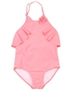 Kate Mack Girls Paradise Island Swimsuit with Flounce